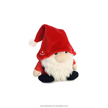 Best price high quality Suntown cute plush hatted Santa Claus stuffed Christmas decoration toys for kids,plush Christmas gifts