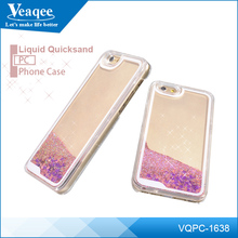 Veaqee Fashion New LED Flash Light Liquid Soft TPU Cell Phone Case For iPhone7 Quicksand Back Cover