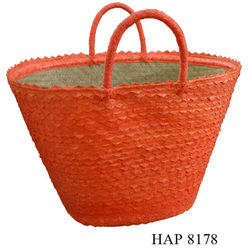 Palm leaf shopping bag in Vietnam / Nice storage basket for ladies (HAP 8178)