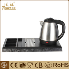 1.0LBest record kitchen appliance electric tea water kettle with tray