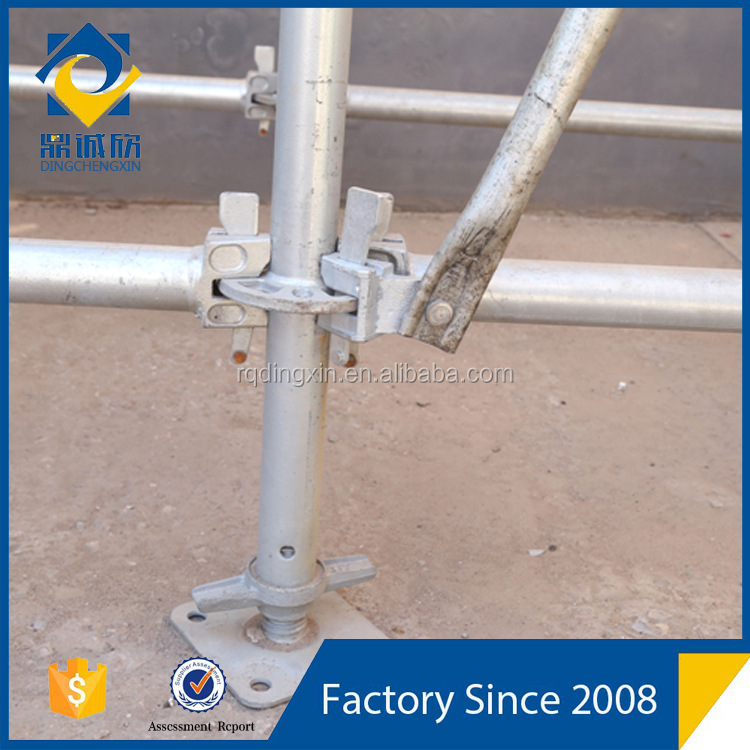 Easy used Q345 steel layher scaffolding with parts for stage platform/scaffolding direct sale