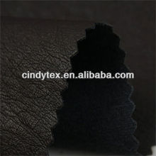 0.7mm drapery jet black soft 100% viscose cow pu fake leather