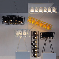 Modern Pendant Light Metal Frame With Fabric Shade Decorative Hanging Pendant Light Black Color Stage Pendant Light