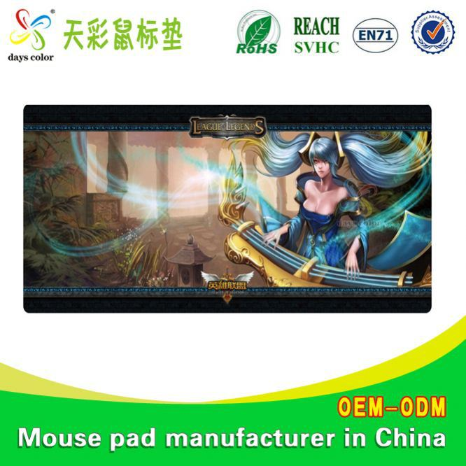 Gloss Fabric Mouse Pad China Laptop Table Stand With Mouse Pad