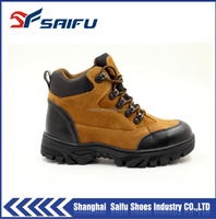 workman's genuine leather industrial safety shoes