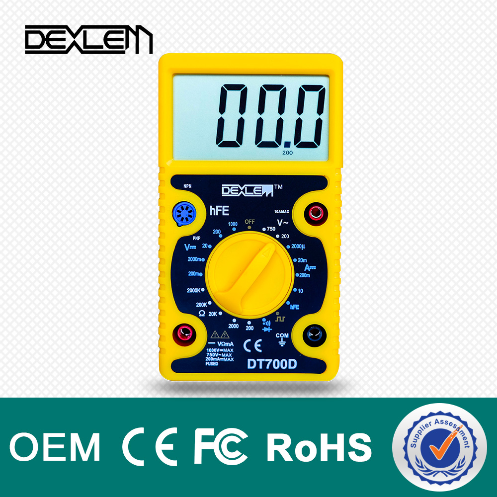 DELE professional manufacturer how to usa a DT700D digital multimeter with manual