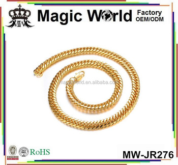 18K GOLD PLATED COPPER CHAIN NECKLACE FOR MEN