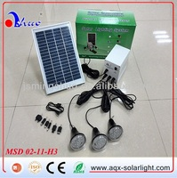 Portable mini 5W Solar LED Light system