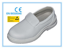 EN ISO 20345:2011 white microfiber leather upper PU outsole steel toe cap cook safety shoes