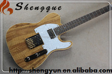 Shengque Spalted Top TL Red Back Electric Guitar