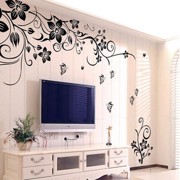 Mance Home Decor Hee Grand Removable Vinyl Pegatinas De Pared Wall Sticker Mural Decal Art - Flowers and Vine