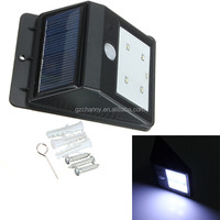 Solar Power 4 LED SMD PIR Motion Sensor Light Rechargeable Outdoor Waterproof Garden Wall Lawn Landscape Yard Lamp