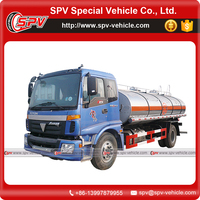 Chinese manufacture 2 axle 12000 Litres Foton petrol tank trucks for sale