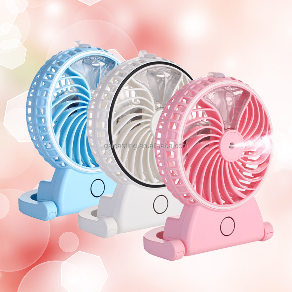 Moise Mute Mini Cooling Mist Spray Personal Fans Handhled Fan