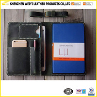 Leather Portfolio Hand Stitched Note Book Covers For Ipad Mini