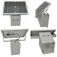 Waterproof Motion Activated Audio Player Powered by Solar Panel, Powerful PIR Motion Sensor Speaker