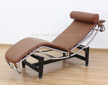Leather Chaise Lounge 8034#