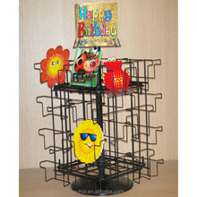 counter revolving metal wire greeting card display stand for retail stores