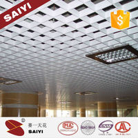 High Strengh Metal Aluminum Lattice Panels Ceiling For Office