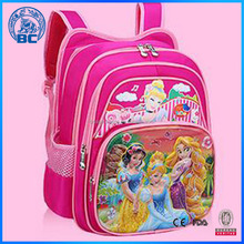 Beautiful Cheap High Quality Pink Princess School Bag For Girls