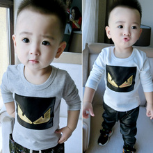 Online Shopping 2015 Fall Baby Boys Fashion Cotton T-shirt For Wholesale