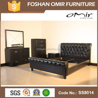 Omir furniture wood bunk bed company PU leather models SS8014