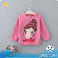 Bulk items china supplier factory price hot pink garment stock lot cartoon casual winter sweet girls stylish t-shirt