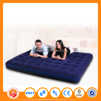 Single or double size inflatable air bed beach air mattress