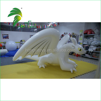 Inflatable White 0.3mm TPU Toothless Dragon