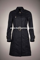 New style woman slim trench coat with cotton fabric from Henry Arroway Spain