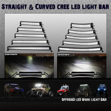 Curved LED light bar 50inch 288W,12/24V LED light bar,offroad car accessories,4x4 auto lighting,truck,4WD,IP68