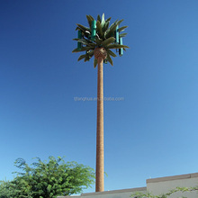 Polygonal Artificial Ornamental Single Pole Bionic Palm Tree Tower