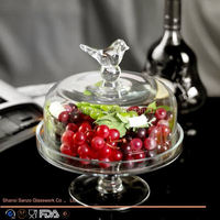 Sanzo Custom Glassware Manufacturer flower cake stands