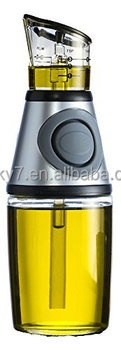 Oil Bottle Glass with No Drip Bottle Spout Olive Oil Glass Dispenser to Measure Cooking Vegetable Oil and Vinegar