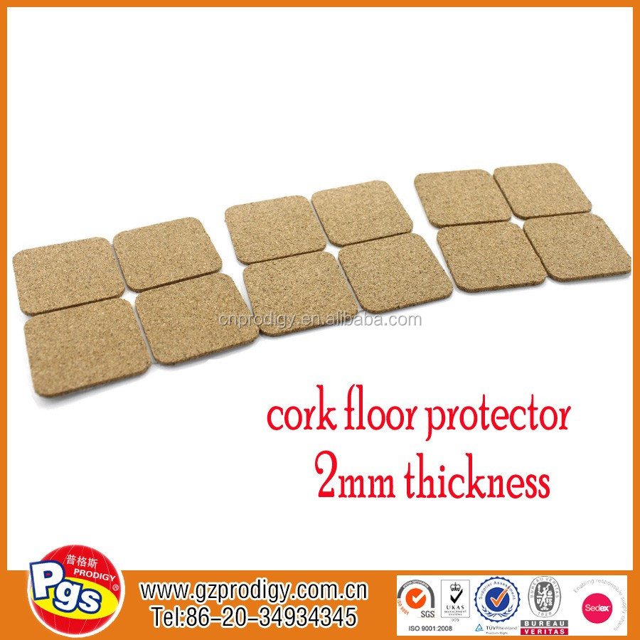 self-adhesive cork wooden chair leg floor protector / self adhesive cork pads