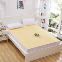 Hot Sale Bulk Yellow Cotton Terry Tear - Resistant Bed Flat Sheets