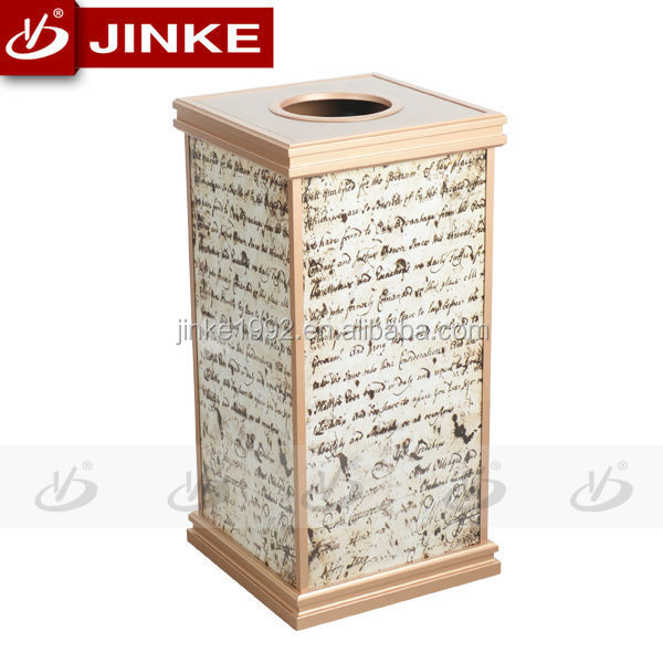 Innovative Novelty Square Advertising Fireproof Dustbin/Waste Rubbish Bin For Sale