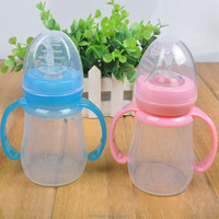 150ml Wide aperture Food Grade Non-toxic Drop Resistance Soft Silicone Baby Bottle Bpa Free Infant Baby Feeding Milk bottles