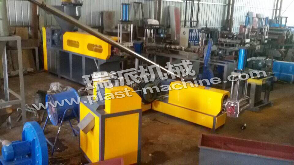 Two Station Recycling Film Pe Plastic Recycling Plant Machine