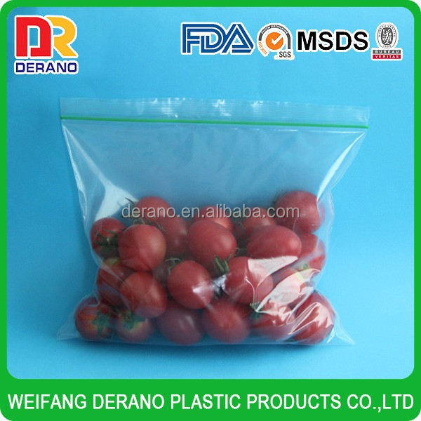 LDPE hang hole zip lock clear plastic bread bags