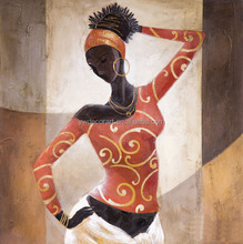 african Dancing Woman oil painting