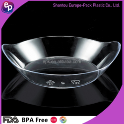 Food grade FDA BPA Free special shape disposable plastic Any color PS salad plate