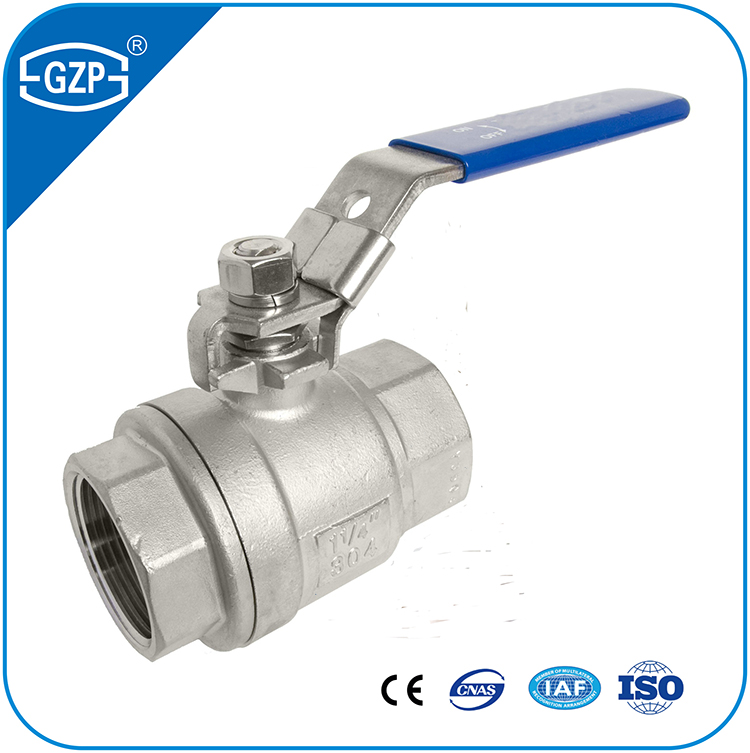 "CF8 materail dn8 1/4"" 1"" 2"" 3"" Inch 1000 2000 WOG bsp thread Ball Valve with handle"
