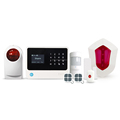 2018 LED touch display home security GSM alarm systems work with WIFI or GPRS support 5 call phone number security alarm system