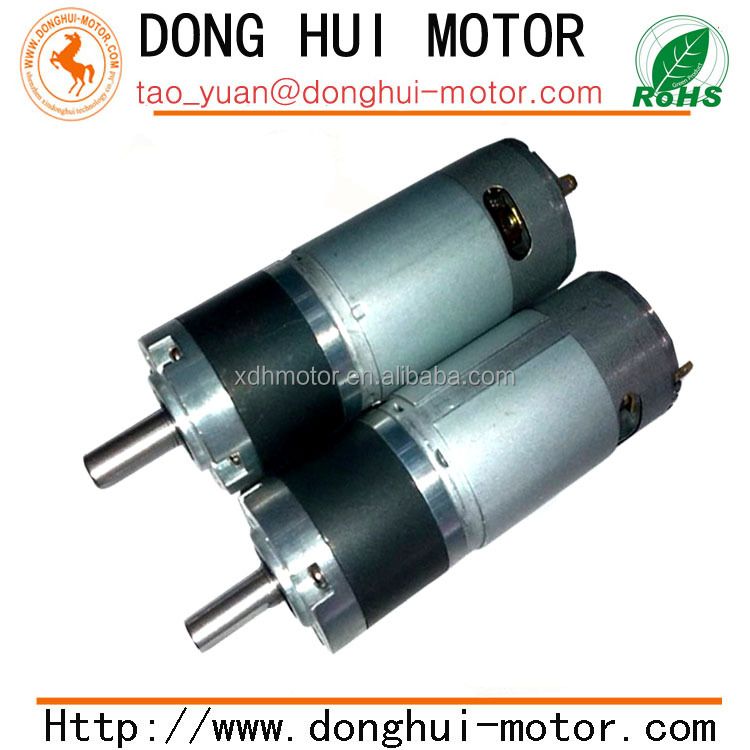 high torque low rpm 36mm dc planetary gear motor with
