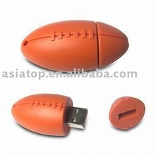 Usb Flash Drive with olive shape in pvc material