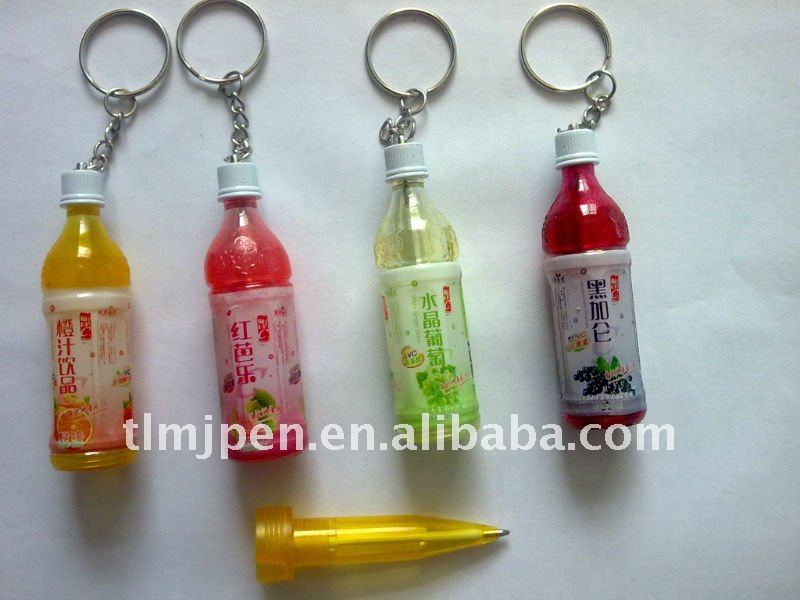Order from china plastic pen colorful mini bottle ball pen(best choice for drinks ad)