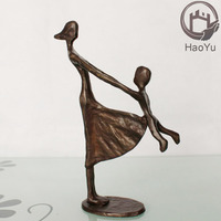 metal bronze mother and child sculpture for home decor