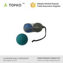 China Supplier Custom Colors Mobility Massage Ball Lacrosse Ball With Mesh Bag