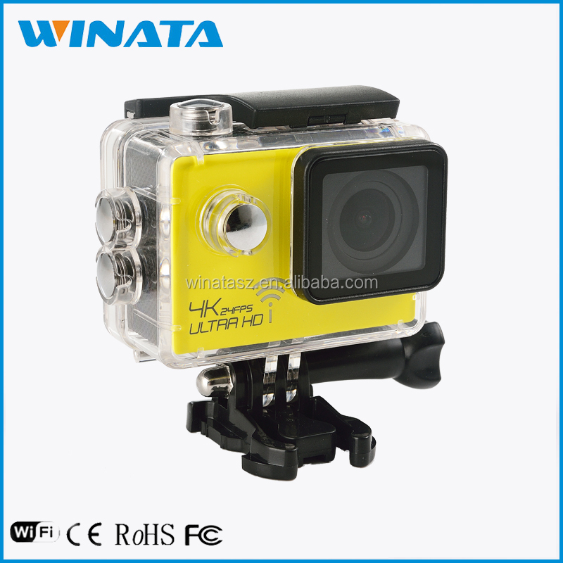 Best selling 4k portable extreme 4X zoom action camera with TV out mode